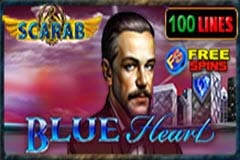 Blue Heart Scarab Slot Game